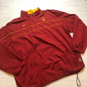 NIKE USC TROJANS Storm-Fit 1/4 ZIP Poly Pullover